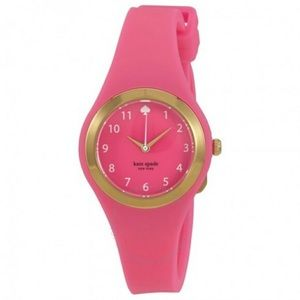 Kate Spade Rumsey hot pink silicone watch